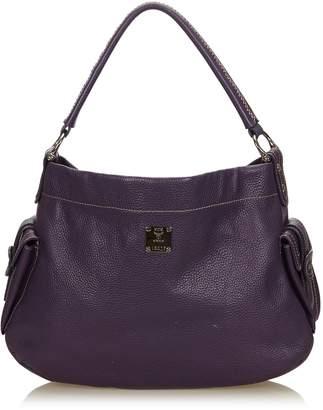 MCM Purple Leather Handbag
