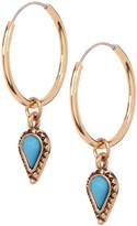Sparkling Sage Interchangeable Dangle Charm Hoop Earrings