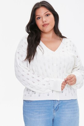 Forever 21 Plus Size Open-Knit Cardigan Sweater