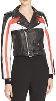 Maje Beril Leather Biker Jacket