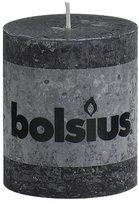 Rustic 103868020331 Pillar Candle, Paraffin Wax, Anthracite