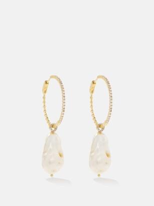 Mateo Diamond, Pearl & 14kt Gold Earrings - Pearl
