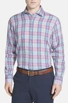 Robert Talbott Crespi II Plaid Linen Classic Fit Sport Shirt
