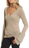 Ella Moss Women's Ruffle Bell Sleeve Sweater
