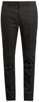 Jil Sander Mid-rise Skinny-fit Checked Trousers