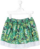 Diesel tropical print skirt - kids - Cotton/Polyester - 7 yrs
