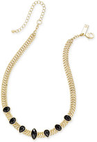 INC International Concepts Gold-Tone Black Crystal Choker Necklace, Only at Macy's