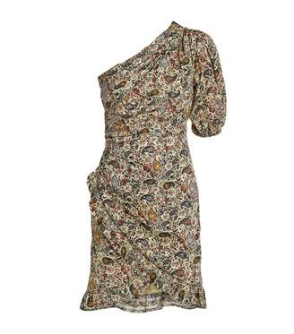 Etoile Isabel Marant Paisley One-Shoulder Esther Dress