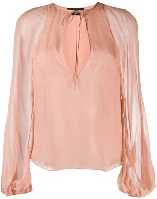 DSQUARED2 Tie-Neck Long-Sleeved Blouse
