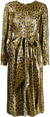 Marc Jacobs Belted Leopard Print Dress