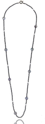 MCL by Matthew Campbell Laurenza Single-Strand Hematite & Pearl Necklace