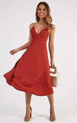 Showpo Oh Romeo Dress in rust - 6 (XS) Dresses