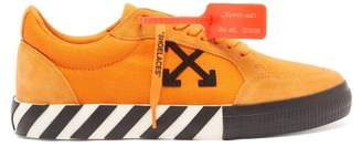 Off-White Off White Vulcanised Low Top Suede Trainers - Mens - Orange Multi