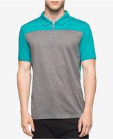 Calvin Klein Men's Quarter-Zip Colorblocked Polo