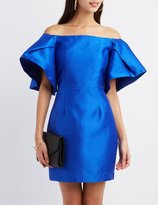 Charlotte Russe Off-The-Shoulder Sheath Dress