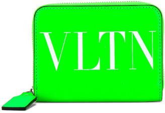 Valentino VLTN Neck Wallet in Green | FWRD