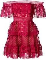Self-Portrait bardot crocheted dress