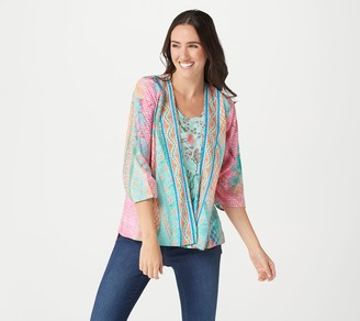 Tolani Collection Printed 3/4-Sleeve Duet