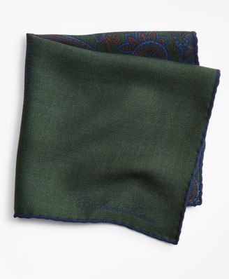 Brooks Brothers Patchwork Flannel Pocket Square