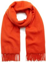 Mulberry Lambswool Scarf Bright Orange Lambswool