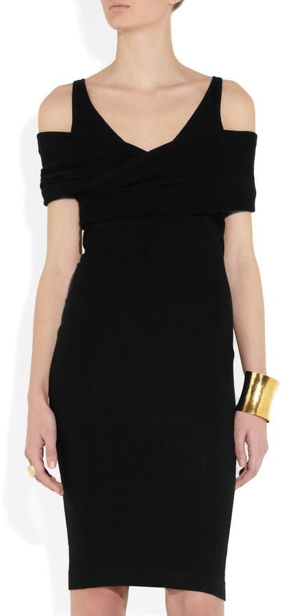Donna Karan Cutout cashmere-blend dress