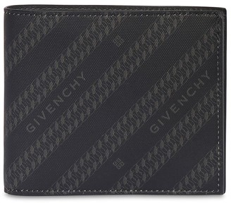 Givenchy Logo Chain Printed Canvas Wallet