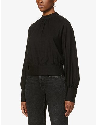 The Odder Side Glory open-back woven shirt