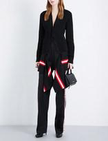 Givenchy Strip-hem wool-blend cardigan