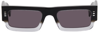 Marcelo Burlon County of Milan Black Logo Lowrider Sunglasses