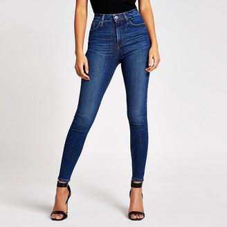 River Island Dark blue Hailey high rise skinny jeans