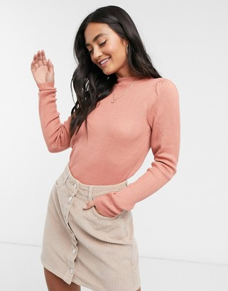 Vila knitted top in pink