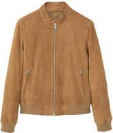 MANGO Zip-pocket suede jacket