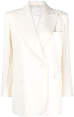 Sandro Double-Breasted Cotton Blazer