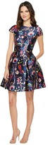 Ted Baker Fluxam Folk Foliage Skater Dress Women's Dress