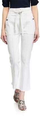Frame Le Crop Flare Triple-Waist Jeans