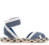 Stella McCartney denim raffia espadrille sandals