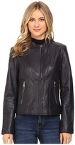 Andrew Marc Liv Leather Moto Jacket