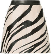 Roberto Cavalli zebra print A-line skirt