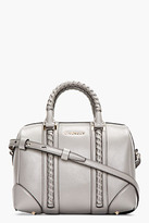 Givenchy Grey Braided Leather Lucrezia Small Duffle Bag