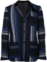Sacai Mexican stripe blazer - men - Cotton/Rayon - 2