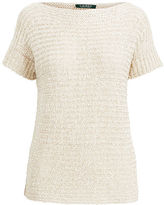 Ralph Lauren Petite Boatneck Short-Sleeve Sweater