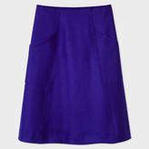 Paul Smith Women's Indigo Wool-Cashmere Flannel Skirt