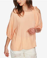 1 STATE 1.state Asymmetrical Tied Cold-Shoulder Top