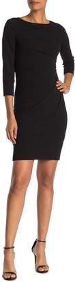 Calvin Klein Starburst 3/4 Sleeve Sheath Dress