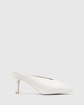 Wittner - Women's White Heels - Devlin Leather Stiletto Heel Pointed Toe Mules - Size One Size, 41 at The Iconic
