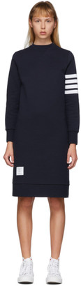 Thom Browne Navy 4-Bar Sweater Dress