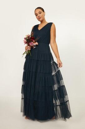 Coast Curve Tulle Tiered Maxi Dress