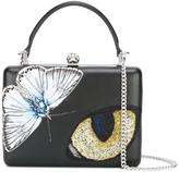 Alexander McQueen Big Obsession embroidered case clutch