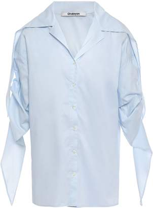 Chalayan Gathered Cotton Mousseline Shirt