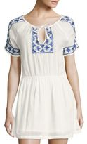 Roberta Roller Rabbit Deauville Carmel Embroidered Dress